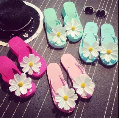 Гаджет  Hot Selling 2015 New Fashion Sweet Lady Beach Flip Flops Summer Sun Flower Women Slipper Holiday Wedges Sandals KK155 None Обувь