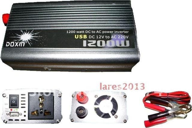 NEW 12v DC to AC 220v AC 1200W Mobile Car Power Inverter USB + Free shipping