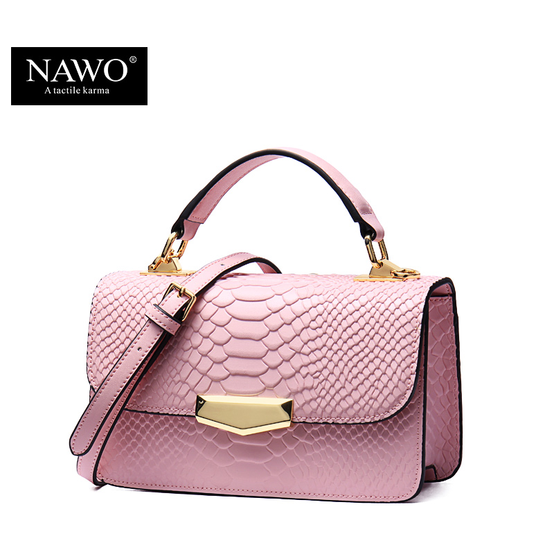 Snakeskin Leather Women Bag Pink Luxury Women Messenger Bag Small Casual Crossbody Bags Ladies Shoulder Bag Bolsas Feminina(China (Mainland))