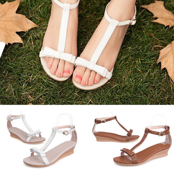 Fashion new 2015 Spring / Summer Shoes Woman Sandals Pumps Sandy Beach Wedges Shoes Comfortable Flats(China (Mainland))