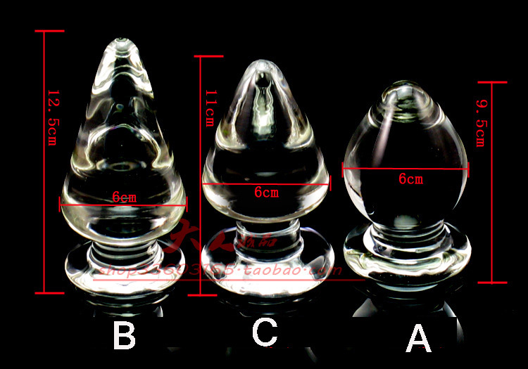 Free shipping huge Pyrex glass butt plug crystal glass anal dildo Adult anal masturbation sex products for men and women sl2221