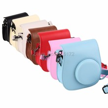 Hot Sale!Leather Camera Strap Bag Case Cover Pouch Protector For Polaroid Photo Camera For For Fuji Fujifilm Instax Mini 8(China (Mainland))
