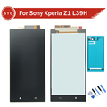 AAA Quality For Sony Xperia Z1 L39H L39 LCD Screen Display Touch Screen Digitizer Assembly adhesive
