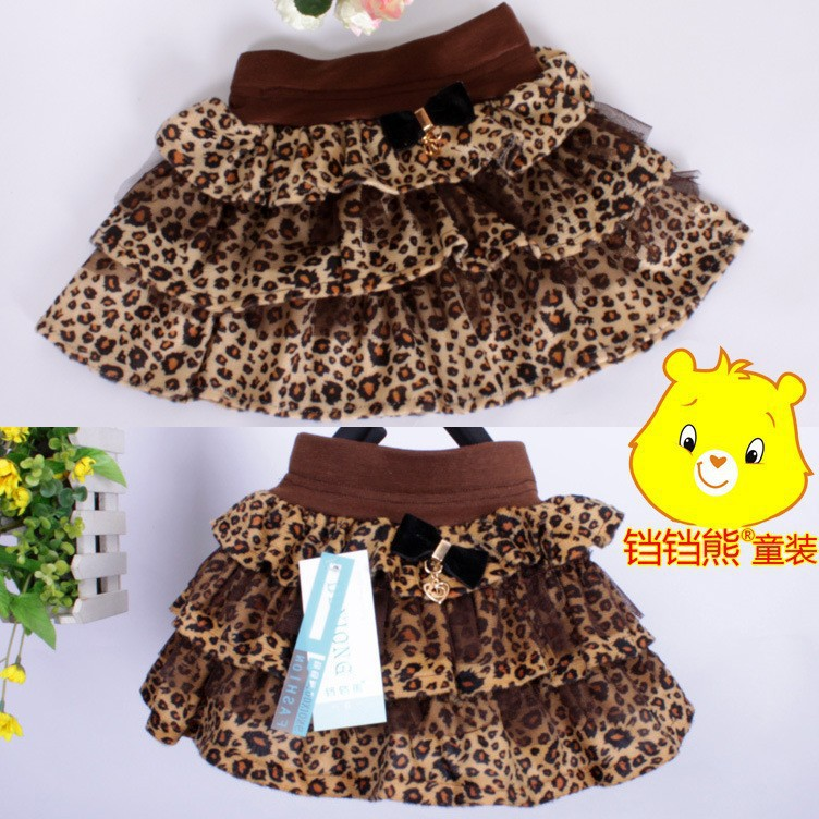 Wholesale summer skirt 2 to 6 years old girl leopard skirt, free shipping<br><br>Aliexpress
