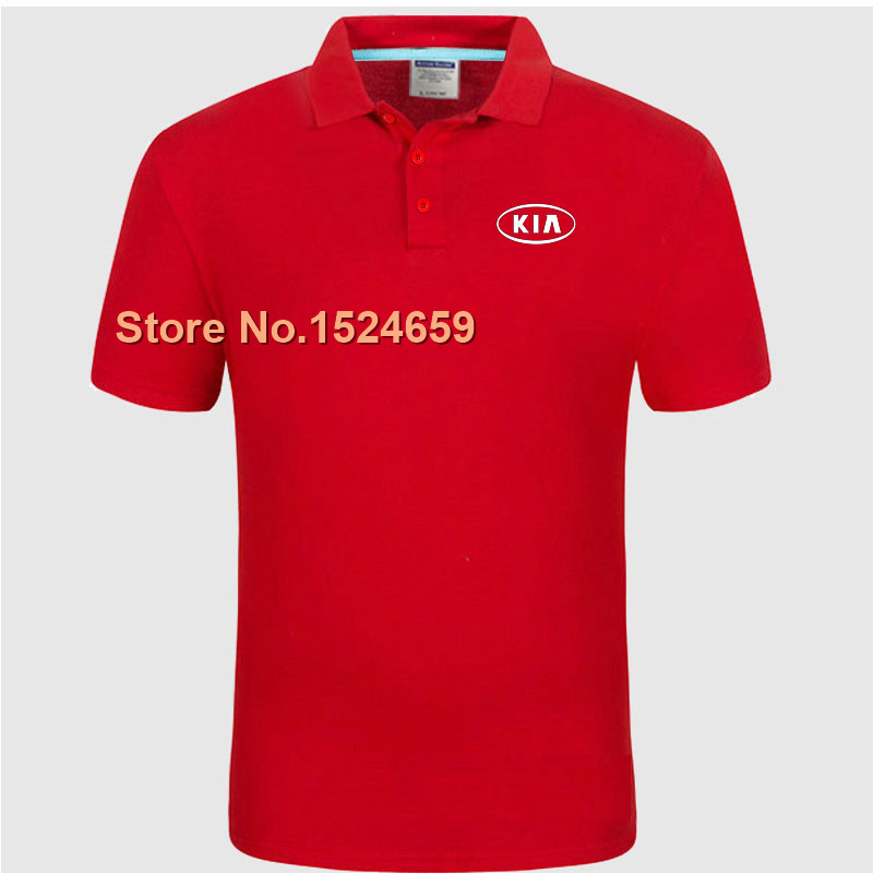 Women and men's summer KIA POLO shirt custom tooling work clothes(China (Mainland))