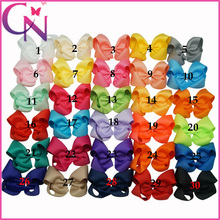 Hot Sale 4 inch boutique hair bows baby girls grosgrain ribbon hair bows with clips 30pcs/lot Free Shipping CNHBW-13040952(China (Mainland))