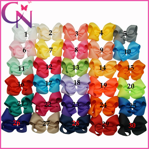 Hot Sale 4 inch boutique hair bows baby girls grosgrain ribbon hair bows with clips 30pcs/lot Free Shipping CNHBW-14112302(China (Mainland))
