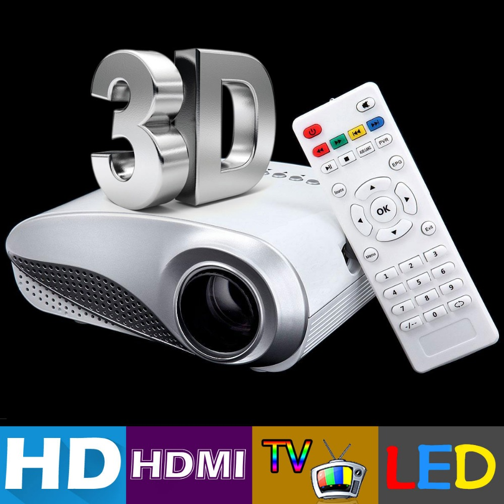 H60 portable 3d led projector lcd multimedia home cinema for Best small hd projector