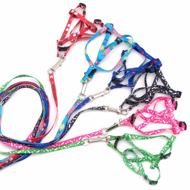 2016 New 5PCS Per Lot Fashion Printing Style 120cm Length Cute Flower Design Pet Dog Harness,Hot Sale Pet Walking Belt Leash