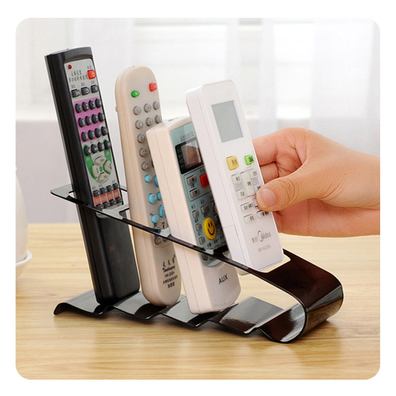 Creative Iron four-frame storage rack Desktop TV remote control air conditioning remote control receptacle housing Free Shipping(China (Mainland))