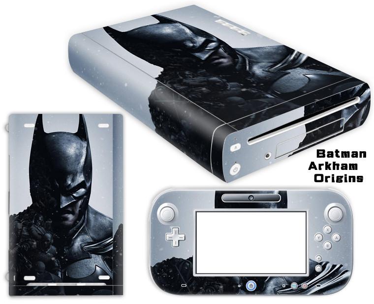 Batman Arkham Origins Vinyl Sticker Protector for Nintendo Wii U Controller Skins Sticker Decal Cover Wii U Decals TN-WiiU-0026(China (Mainland))