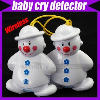 Lovely Wireless Baby Cry Detector Monitor Watcher Alarm #1144