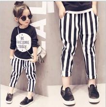 Baby Girls Classic Stripe Harem Pants Kids Girl Cotton Spring Trouser 2016 Babies Casual Loose Pant Children's Clothing