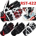 2016 New RS TAICHII 422 Spring leather carbon fiber Moto racing gloves motorcycle riding gloves can