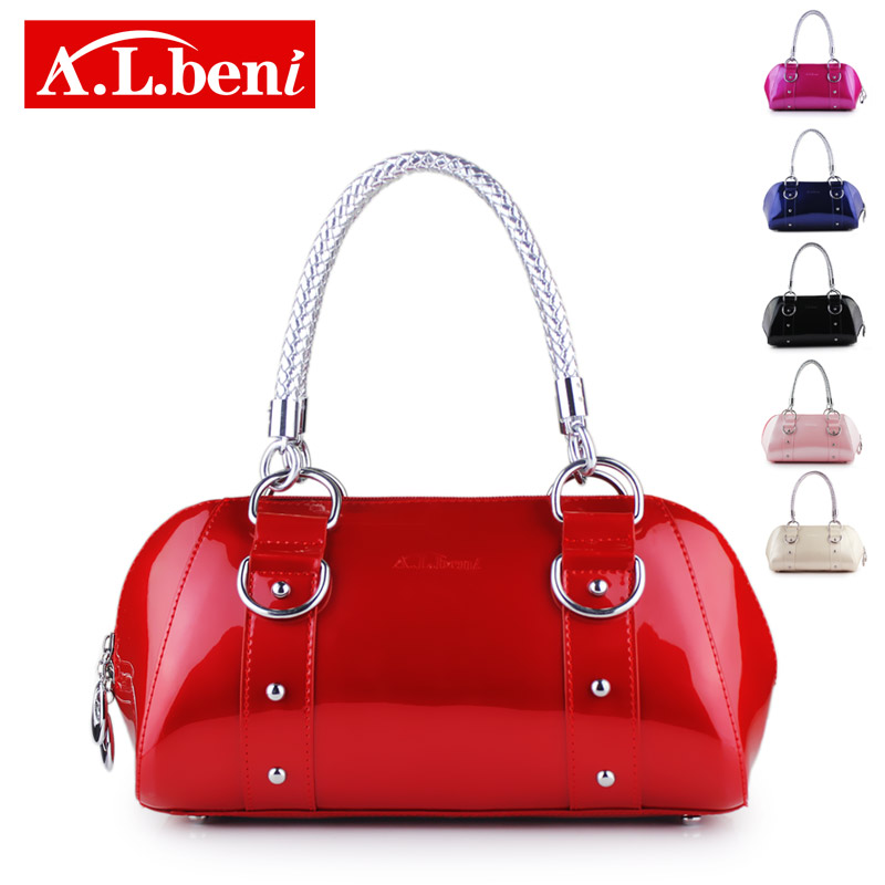 Fashion women's handbag vintage small bags color block motorcycle bag evening rivet - Brand discount store- store