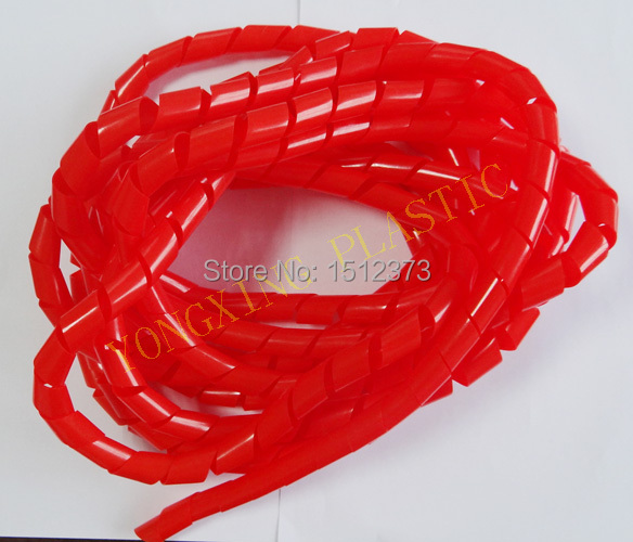5 meter/bag 14mm spiral wrappinb bands red color make the wire cable beautiful<br><br>Aliexpress