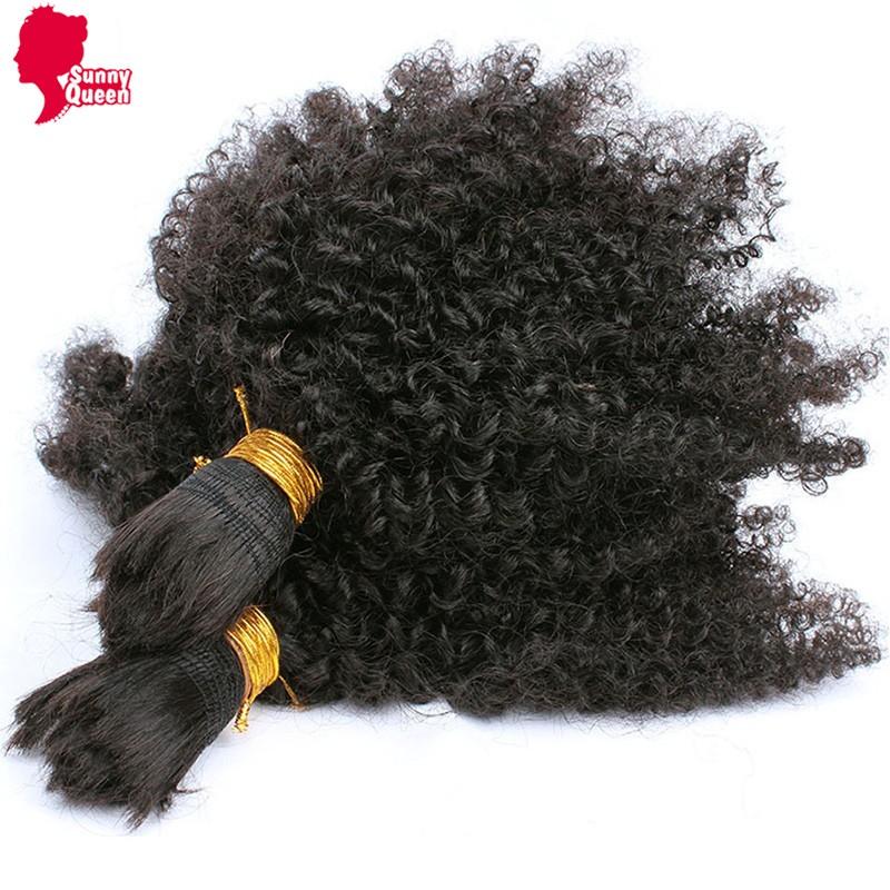 7A Mongolian Afro Kinky Curly Bulk Hair For Braiding 1Pc Human Braiding Hair Bulk Ali express Braiding Hair Rosa Hair Products