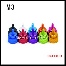 High Quality Pack of 100 M3 aluminum computer chassis  Computer PC Case Thumbscrews Thumb Screw(China (Mainland))