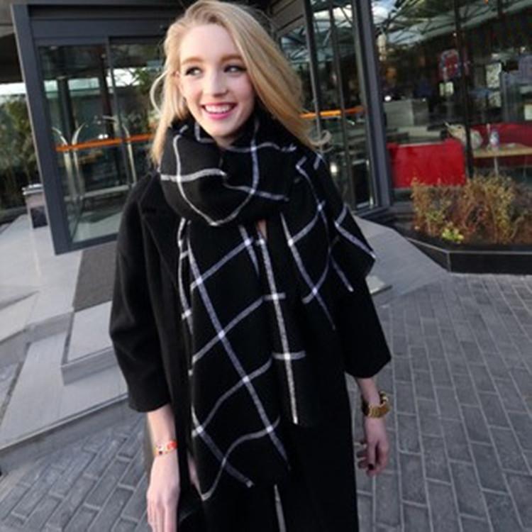 Za 2016 bufandas mujer Blanket soft Plaid scarf women Cozy font b Tartan b font long