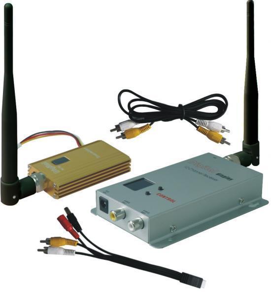 FPVOK 900Mhz FPV System 1500mW Video Transmitter and Receiver 900MHz Wireless AV Link CCTV 0.9Ghz Tx Rx set(China (Mainland))