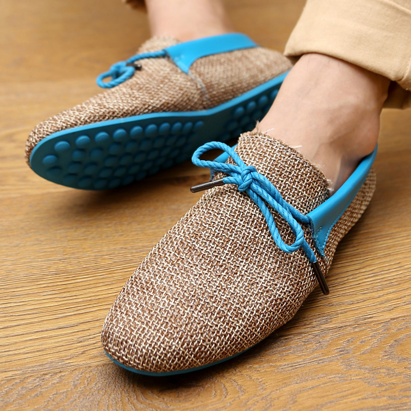 Korean style 2015 New arriva summer mens linen shoes breathable casual driving shoes cheap price men shoes<br><br>Aliexpress