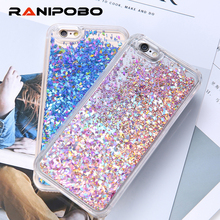 Buy Luxury Dynamic Liquid Glitter Sand Quicksand Star Cases Capa iphone 6 6S 7 7 Plus SE 5 5S Crystal Clear phone Back Cover for $1.69 in AliExpress store