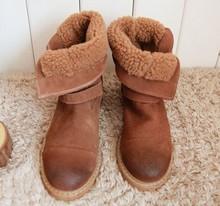 2015 medio del tobillo envío libre corto de cuero genuino verdadero natrual mujeres motorcycle boots mujeres de arranque nieve GBT001, size4.5-8(China (Mainland))