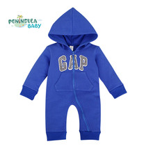 Baby Spring Clothing Letters Hooded Baby Rompers Cotton Long Sleeve Jumpsuits Newborn Unisex Toddler Costume Kids Cheap Price(China (Mainland))