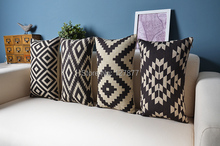 British American Nordic style forest geometric Pillowcase
