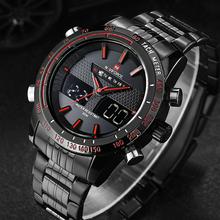 New Brand NAVIFORCE Waterproof Men Full Steel Analog Digital LED Watch Men Quartz Army Clock Wrist Sports Military Watch for Men
