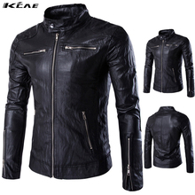Buy New Fashion PU Leather Jacket Men Black Solid Mens Faux Fur Coats Trend Slim Fit Youth Motorcycle Jacket Male Size M-5XL for $37.05 in AliExpress store