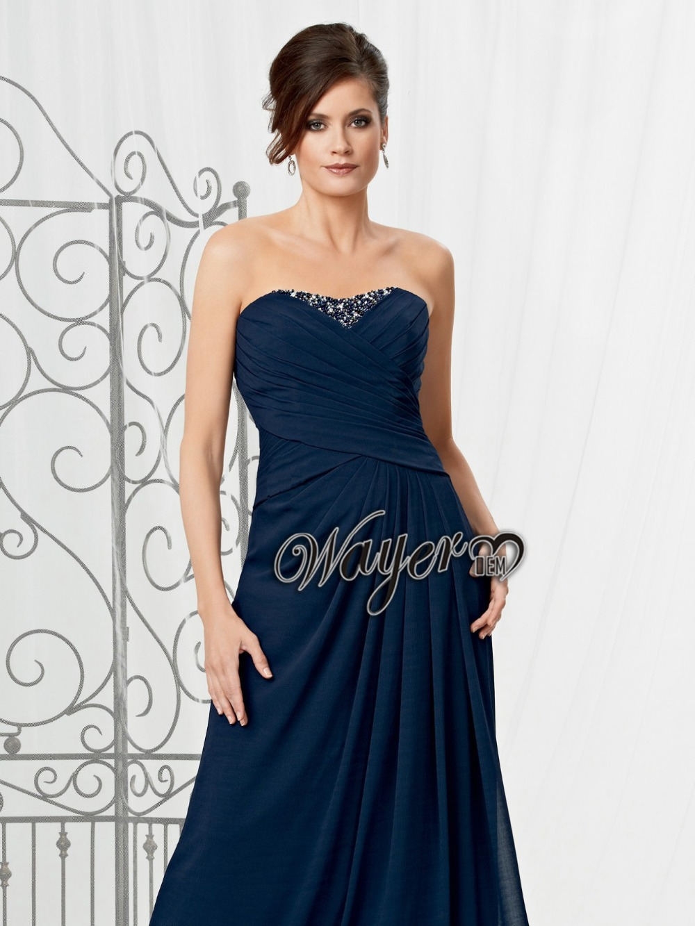 Long blue occasion dress