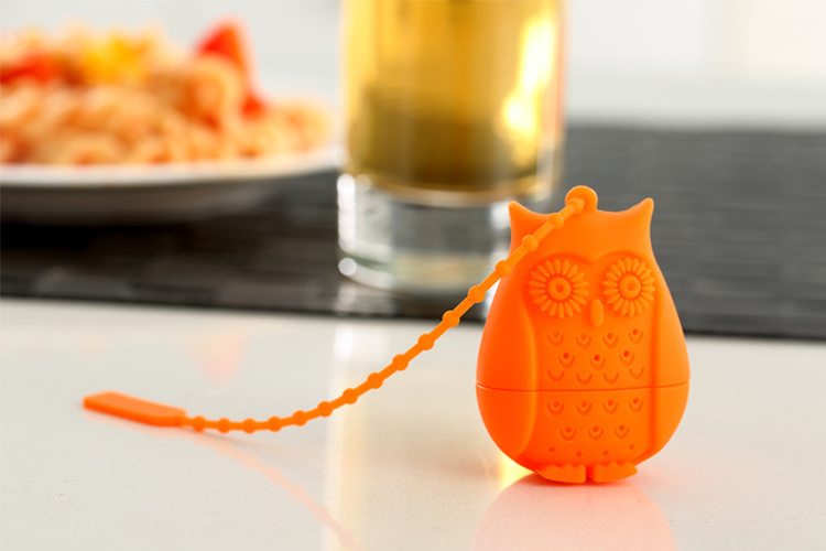 Set of 4 Silicone Owl Tea Bag Creative Silicone Tea Infuser Filter for Mug Tea Pot Empty Tea Bags for Loose Tea Kitchen Accessories (7)