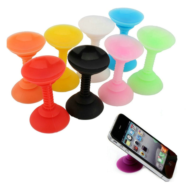 Double Sided Suction Cup Stand Holder Sucker Use for iPhone Samsung Huawei Xiaomi Oneplus Mobile Phone Silicone Stand Holder(China (Mainland))