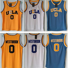 Sale UCLA 0# Russell Westbrook Crenshaw Blue White Home Road Mens Throwback Basketball Jerseys Stitched Embroidery Logos S-XXXL(China (Mainland))