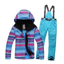 New 2015 High Quality Fashion Women Ski Suit Sets Windproof Waterproof Winter Women Ski Jacket+Pants Warm Breathable Wearproof(China (Mainland))