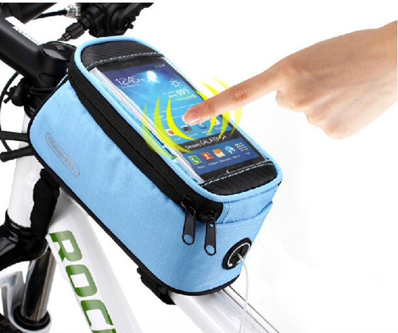 """ROSWHEEL 4.2"""" 4.8"""" 5.5"""" Bike Bicycle Cycle Cycling Frame Tube Panniers Waterproof Touchscreen Phone Case Reflective Bag,5 Colors(China (Mainland))"""