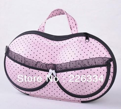 BRAND NEW BOW KNOT BRA brassiere  PORTABLE BAG TRAVEL USE Storage box bag free shipping