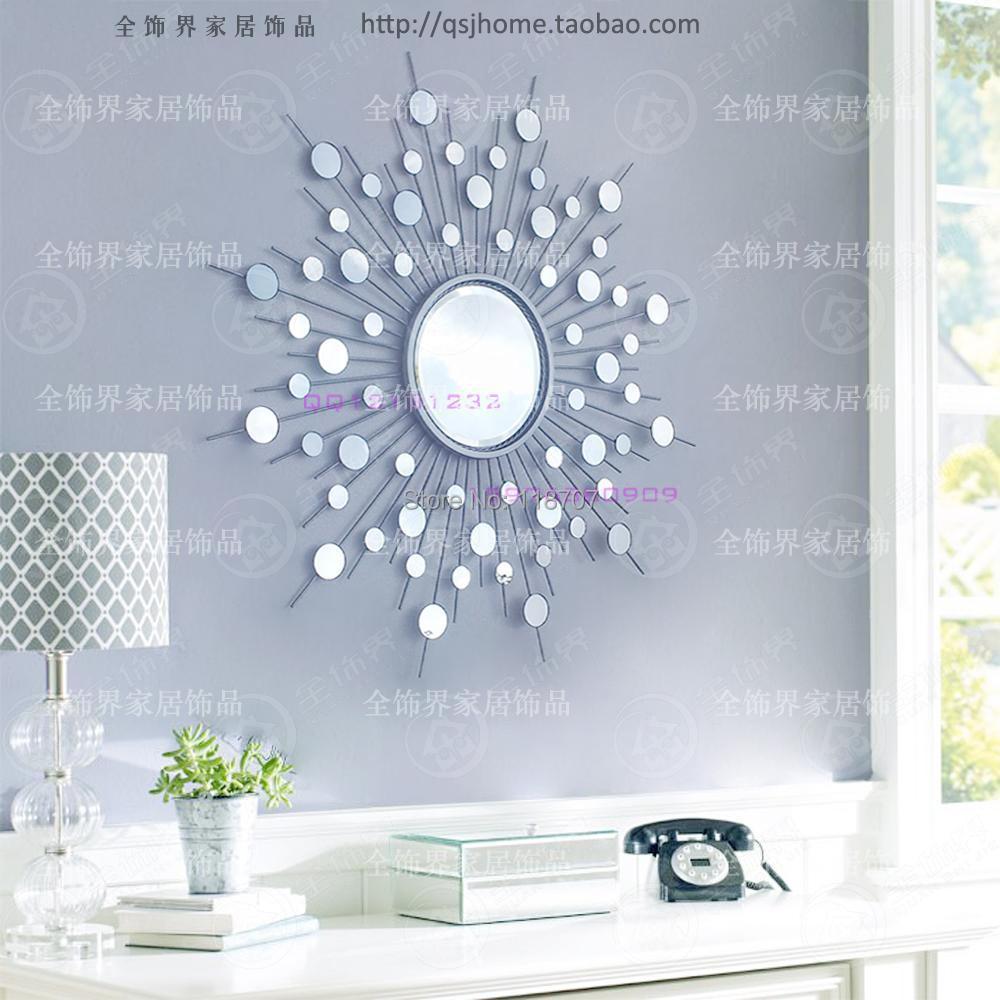 Online get cheap sunburst mirror alibaba Metal wall decor cheap