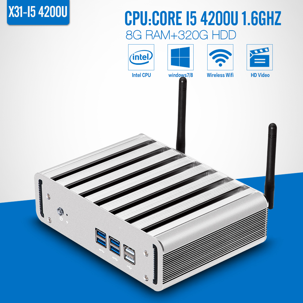 Hot Selling Mini PC I5 4200U 8G RAM+320G HDD+WIFI Thin Client Wireless Terminal Home Computer mini computer Support Hd Video(China (Mainland))