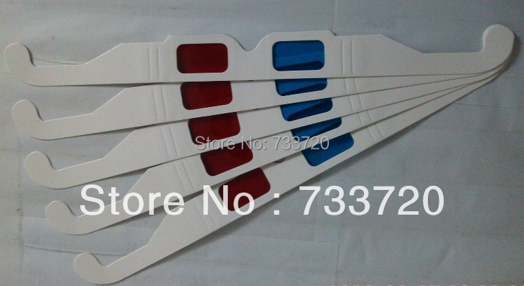 disposable Red Cyan paper 3D glasses with red blue PET filter free shipping(China (Mainland))