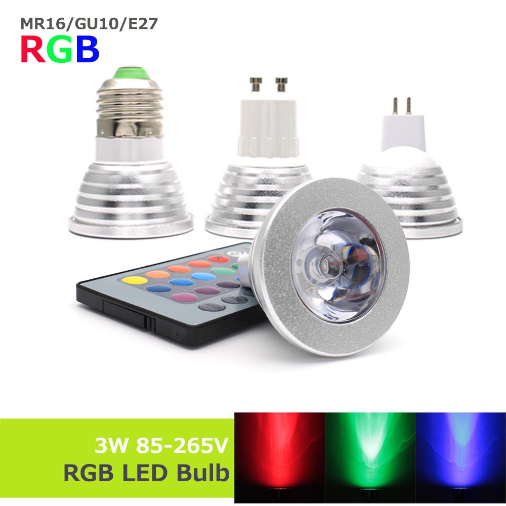 Led Spotlight Rgb Colorchanging Light Bulb Par38 02