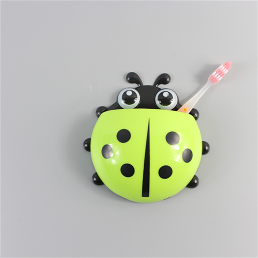 2016new ladybug cartoon sucker toothbrush holder cute for Cute bath accessories