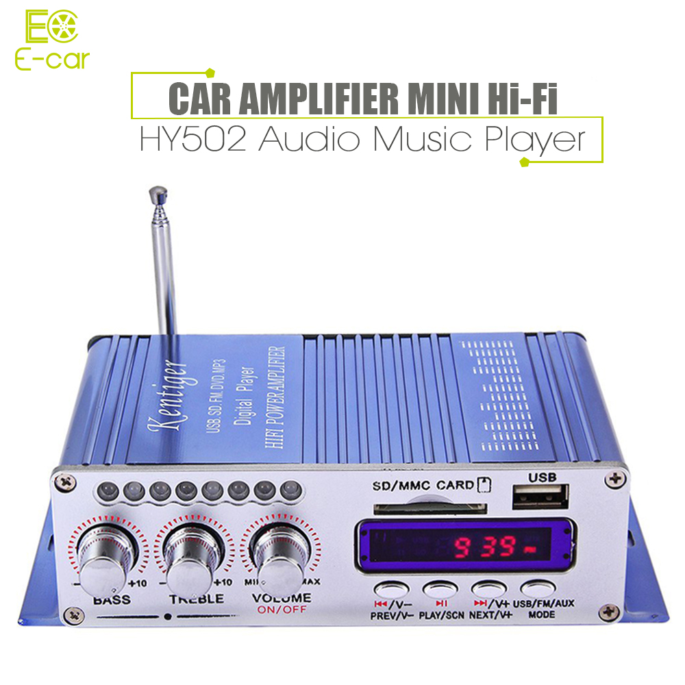 Mini Hi-Fi HY502 USB MP3 DVD CD FM SD Digital Player for Motorcycle Auto Stereo Power Amplifier Sound model Audio Music Player(China (Mainland))