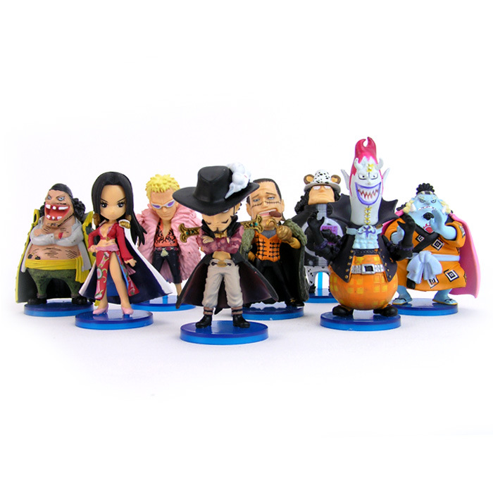 2016 New Arrival Action Figures One Piece Cute Cartoon Dolls Mini Figures Models Brinquedos Anime Toys F069(China (Mainland))