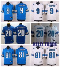100% Stitiched,Detroit Lions,Calvin Johnson,Barry Sanders,Matthew Stafford,customizable(China (Mainland))