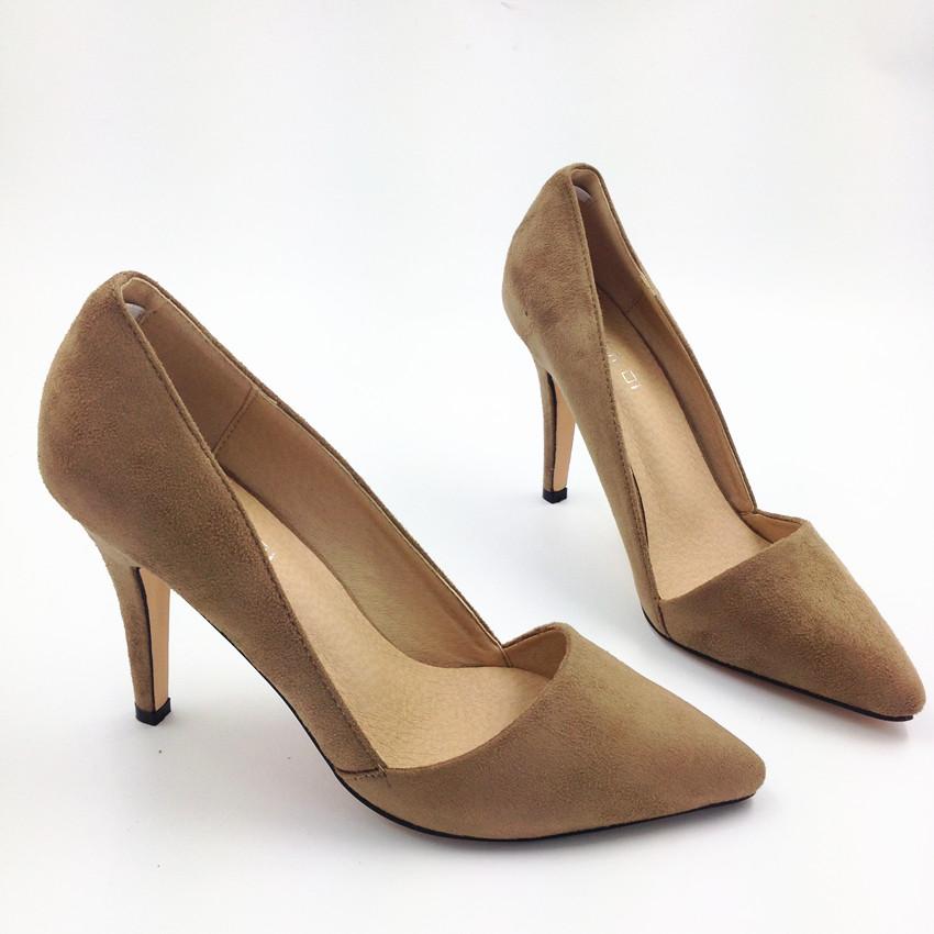 2016 Women High Heel Shoes Pumps Point Toe Heel Party Shoes Dress Shoe-in Womenu0026#39;s Pumps From ...