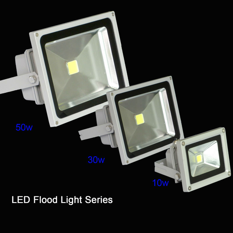 10W 30W 50W waterproof LED Flood light Outdoor Landscape sportlight wall Lamp reflector led outdoor lighting IP65 Sock in USA(China (Mainland))