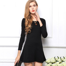 2015 new Women's ladies' long sleeve Cotton Grinding wool comfortable dress, Joker maxi casual dresses 10Color Free Size(China (Mainland))