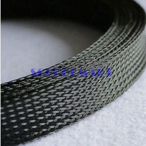 free shipping 5m Black General Cable Protection 18mm Dia PET Braided Cable Sleeve high voltage insulation sleeving(China (Mainland))